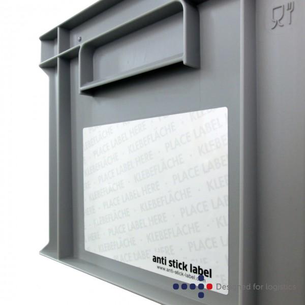 anti stick label - 159 x 115 mm