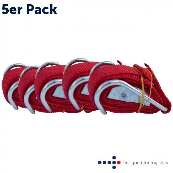 Textilspannband rot - 5 Stk. für Rollbehälter