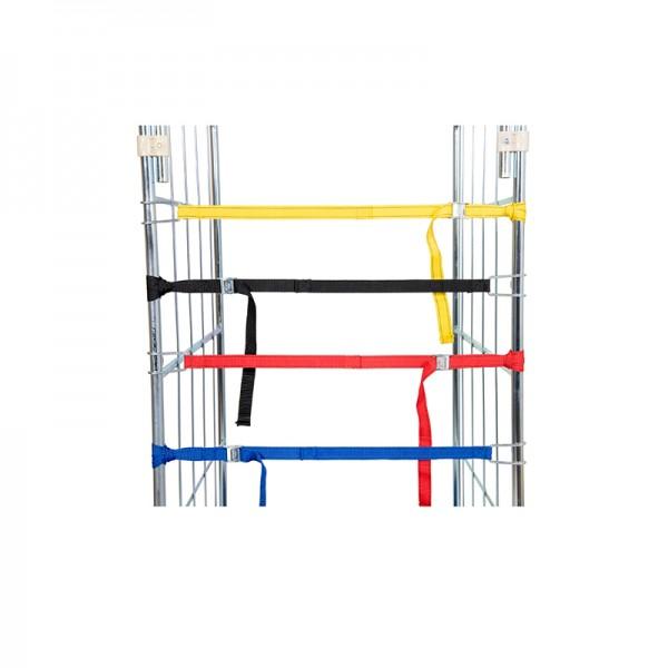 Textilspannband rot mit Elastik - 1 Stk. für Rollbehälter