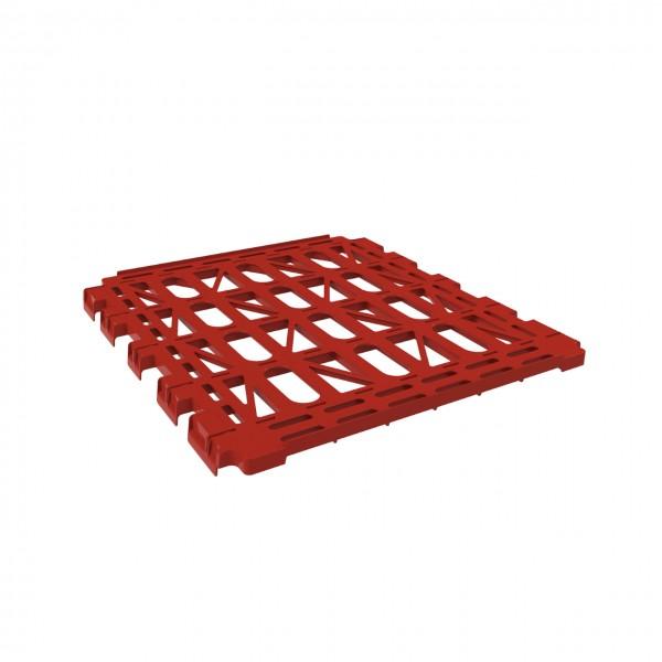 Kunststoffzwischenboden rot für Rollbehälter
