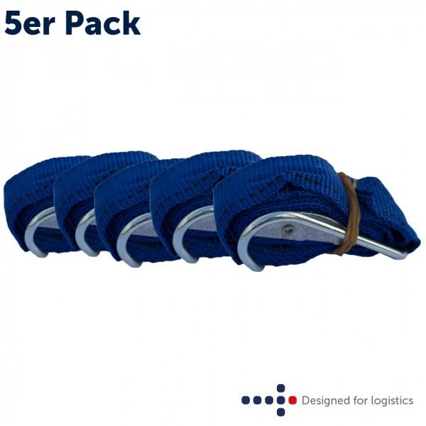 Textilspannband blau - 5 Stk. für Rollbehälter