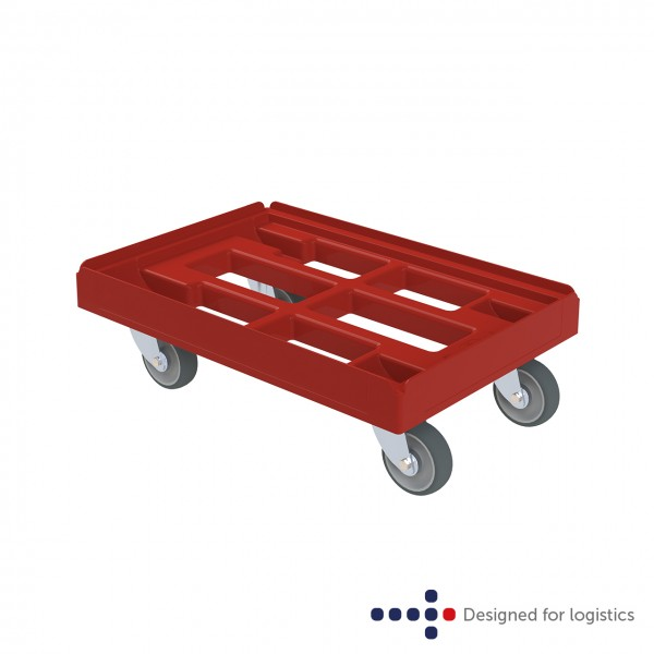 Transportroller rot offen - classic 610 x 410 mm