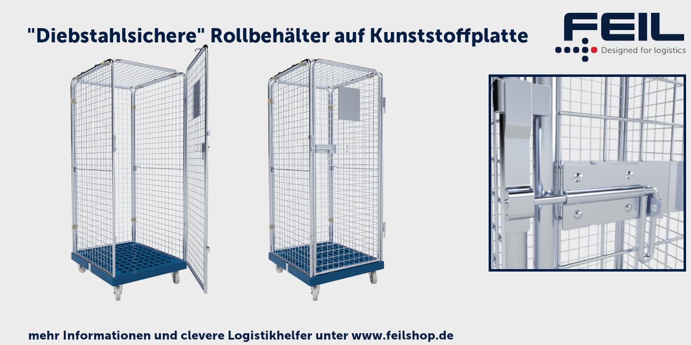 Antidiebstahlbeh-lter-Kunststoffrollplatte