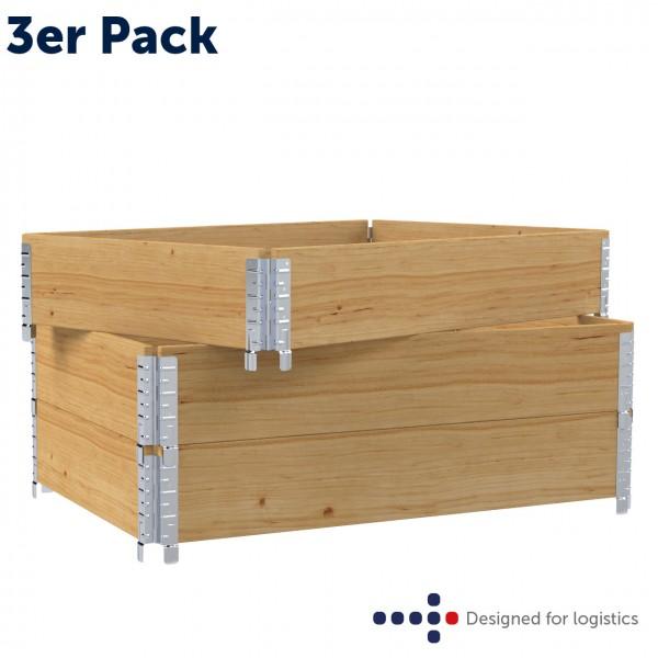 Holzaufsatzrahmen für Europalette - 3er Pack - diagonal faltbar